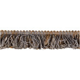 Silver & Gold Ribbon Loop Fringe Trim